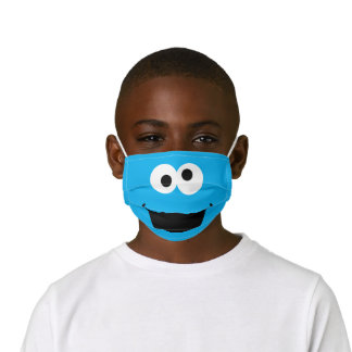 Sesame Street Cookie Monster Face Kids' Cloth Face Mask