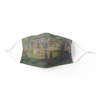 Seurat Impressionist Painting - Sunday in the Park Adult Cloth Face Mask