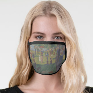Seurat Impressionist Painting - Sunday in the Park Face Mask