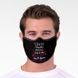 Sew Sewing Quilting Crocheting Premium Face Mask