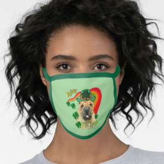 Shar-pei St. Patricks Day Face Mask