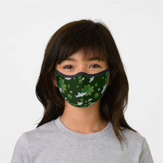 Shark Shamrock Green Holiday St. Patrick's Day Premium Face Mask