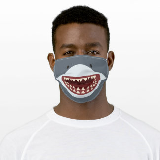 Shark Teeth Funny Kids Cartoon Smile Adult Cloth Face Mask