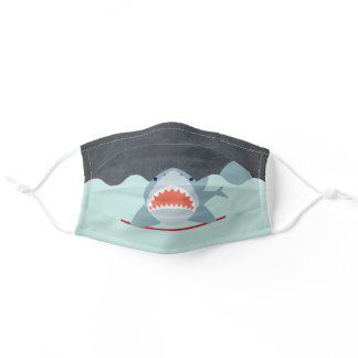 Shark Under the Water Blue Adult Cloth Face Mask