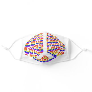 shed peace and love with pride adult cloth face mask