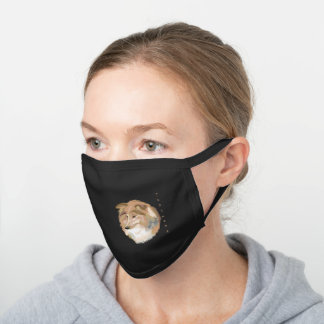 Sheltie Shetland Dog Black Cotton Face Mask