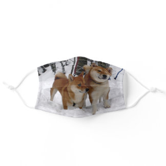 shiba group red adult cloth face mask