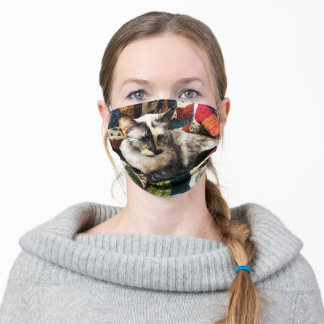 Siamese Cat Adult Cloth Face Mask