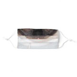 Siamese cat nose and mouth adult cloth face mask