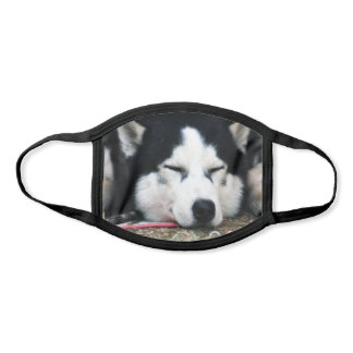 Siberian Husky Puppy Dog Face Sleeping Face Mask