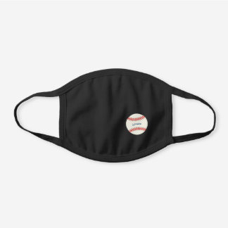 Signed Baseball Name Simple Sports Black Cotton Face Mask