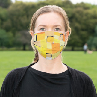 Signs in Yellow, Paul Klee Adult Cloth Face Mask