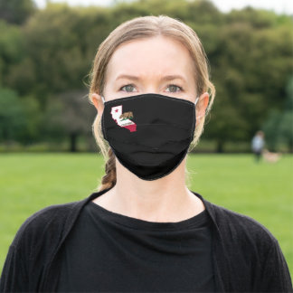 Silhouette of California Adult Cloth Face Mask