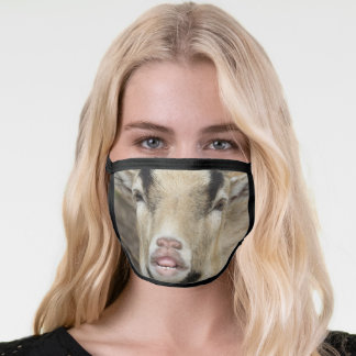 Silly Goat Making a Billy Lip Face Mask