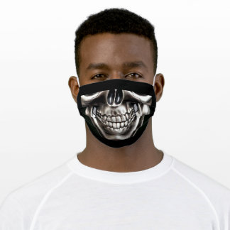 Silver and Gray Skull Adult Cloth Face Mask