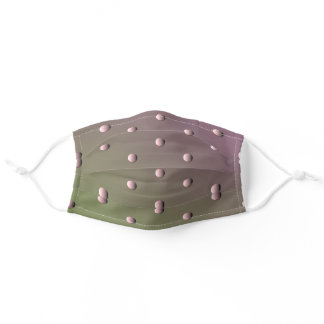 Silver Polkadotted Gradient Plum Adult Cloth Face Mask