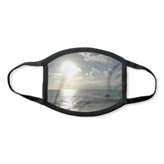Silver Sunset over Hawaii Ocean Face Mask