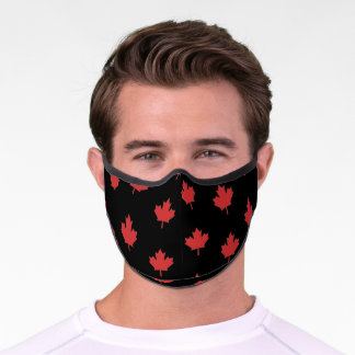 Simple and Elegant Red Maple Leaves Pattern | Premium Face Mask