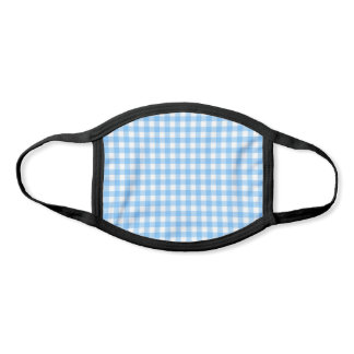 Simple Baby Blue Gingham Face Mask