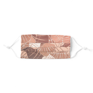 Simple Brown Autumn Leaves Foliage Background   Adult Cloth Face Mask