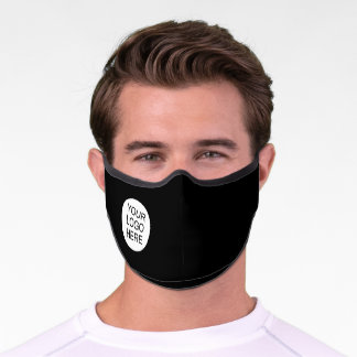 Simple Custom Logo Black Business Premium Face Mask