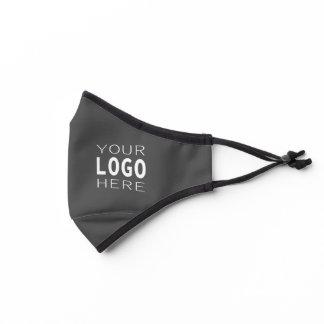 Simple Easy Logo Replacement | Solid Grey Premium Face Mask