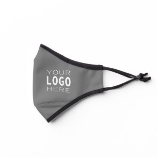 Simple Easy Logo Replacement | Solid Light Gray Premium Face Mask