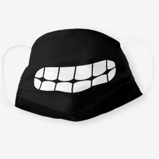 Simple Funny Smile Emoji Black And White Cloth Face Mask