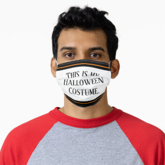 Simple Funny This is My Halloween Costume Adult Cloth Face Mask