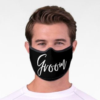 Simple Groom Wedding Day Premium Face Mask