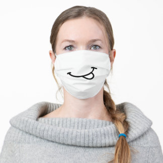 Simple Smile Tongue Out Unisex Adult Cloth Face Mask
