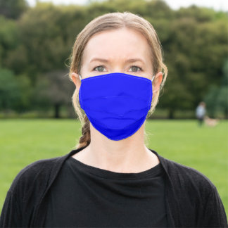 Simply Blue Solid Color Customize It COVID19 Adult Cloth Face Mask