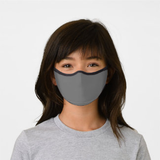Simply Grey Solid Color Customize Premium Face Mask