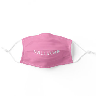Simply Pink Solid Color Customize It Cvid19  Adult Cloth Face Mask