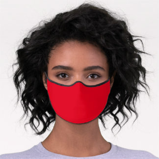 Simply Red Solid Color Customize Premium Face Mask
