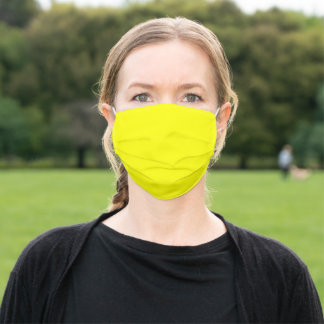 Simply Yellow Solid Color Customize It COVID19 Adult Cloth Face Mask