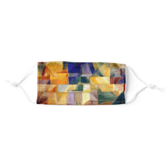 Simultaneous windows, abstract artwork adult cloth face mask