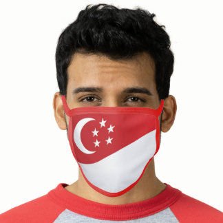 Singapore Flag - All-Over Print Face Mask