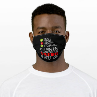 Single Father Full Time Single Dads Adult Cloth Face Mask