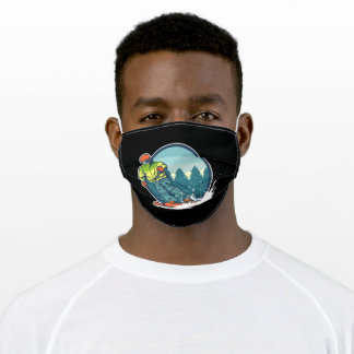 Ski graphic adult cloth face mask