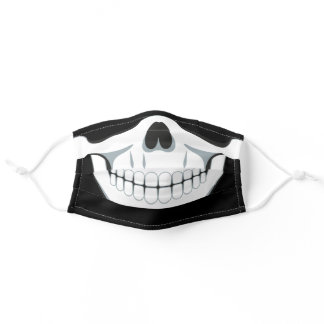 Skull Day of The Dead Halloween Party Adult Cloth Face Mask