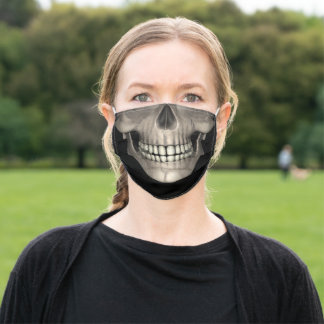 Skull Face with Great Teeth, ZKOA, Protection Adult Cloth Face Mask