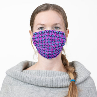 Skull Head Gothic Purple Blue Black Cool Pattern Adult Cloth Face Mask