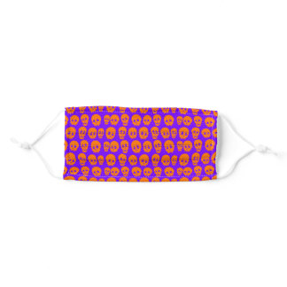 Skull Pattern Cloth Face Mask with Filter Slot