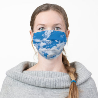 Sky and clouds adult cloth face mask