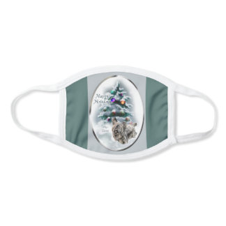 Skye Terrier Christmas Face Mask