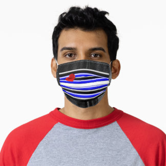 SlipperyJoe's artistic Gay Leather Pride flag gift Adult Cloth Face Mask