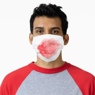 SlipperyJoe's artistic pink Cotton Candy gay pride Adult Cloth Face Mask