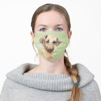 Sloughis Painting - Cute Original Dog Art Adult Cloth Face Mask