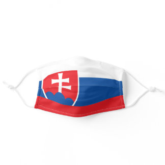Slovakia flag adult cloth face mask